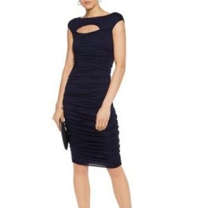 Bailey 44 navy ruched dress XS